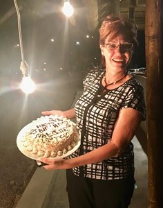 Monate Game Reserve is prepared to look after their guests even during unexpected events. Natalie, wife of MOGAS' Johann Verster, celebrates a birthday.
